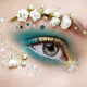 Eye makeup woman with a flowers - PhotoDune Item for Sale