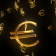 Golden Falling Euro Signs - VideoHive Item for Sale