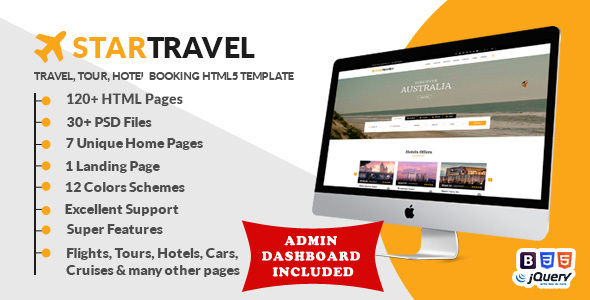 Star Travel – Travel, Tour, Hotel Booking HTML5 Template