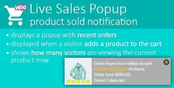 Live Sales Popup: product sold notification WordPress Plugin