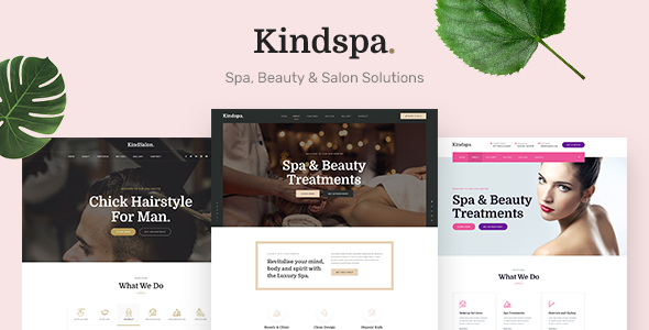Kindspa - Spa and  Beauty Salon HTML5 Template