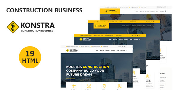 konstra - Construction Business HTML5 Template
