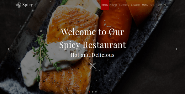 Spicy_Restaurant HTML Template