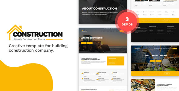 Construction and Building HTML Template