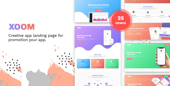 XOOM   App Landing Page by DynamicLayers