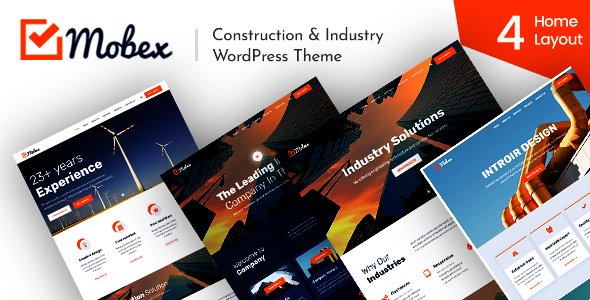 Mobex - Construction & Industry WordPress Theme