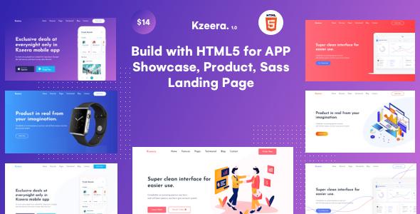 Kzeera -  App & Sass Landing HTML5 Template