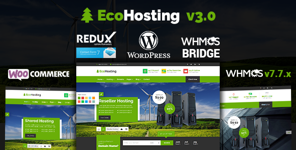 Download EcoHosting | Responsive Hosting and WHMCS WordPress Theme nulled 01 ecohosting
