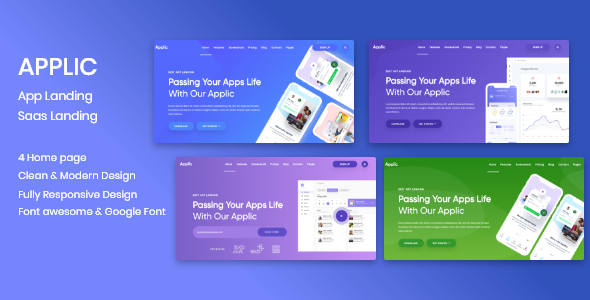Applic - App Landing and SaaS Template