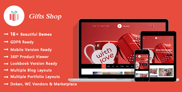 Gifts Shop – Gift and Souvenir WooCommerce WordPress Theme Free Download
