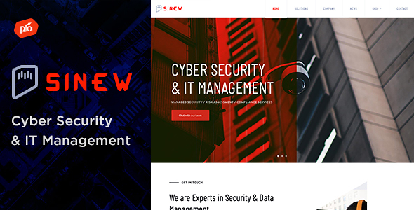 Sinew - Cyber Security & IT Management Theme
