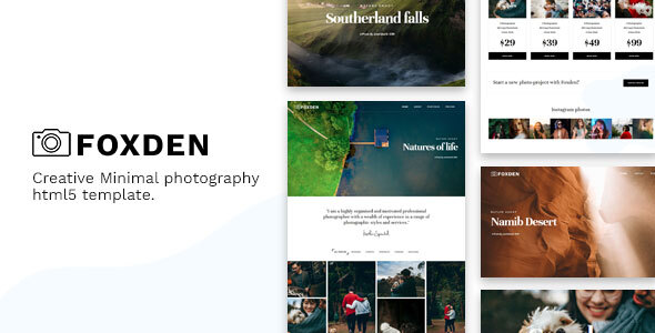 Foxden - Photography Portfolio Template