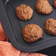 Homemade oatmeal cookies with raisins in a baking tray - PhotoDune Item for Sale