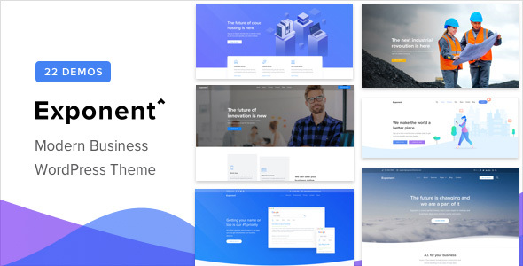 Exponent – Modern Multi-Purpose Business WordPress theme Free Download