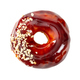 Donut with glossy mirror caramel glaze isolated on white - PhotoDune Item for Sale