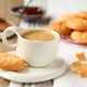 Cup of espresso with coconut cookies on a plate - PhotoDune Item for Sale