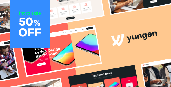 Yungen   Modern Digital Agency Business WordPress Theme Free Download