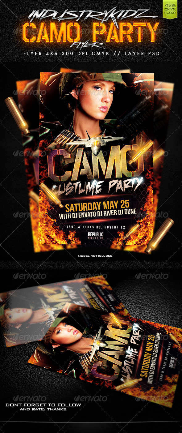 camo party flyer by industrykidz