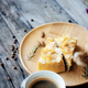 Cake and coffee on wooden - PhotoDune Item for Sale