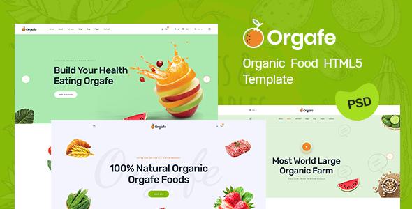 Orgafe - Organic Food HTML5 Template