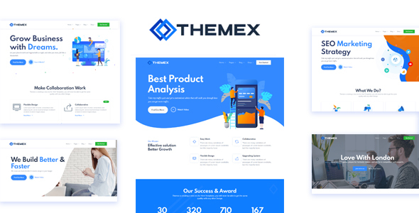 Themex Multipurpose OnePage & Multi Page HTML Template