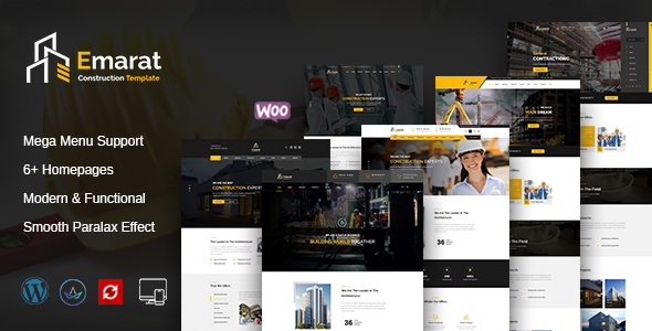 Download Emarat – Construction WordPress Theme nulled preview