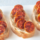 Sandwich with spanish chorizo on the plate - PhotoDune Item for Sale