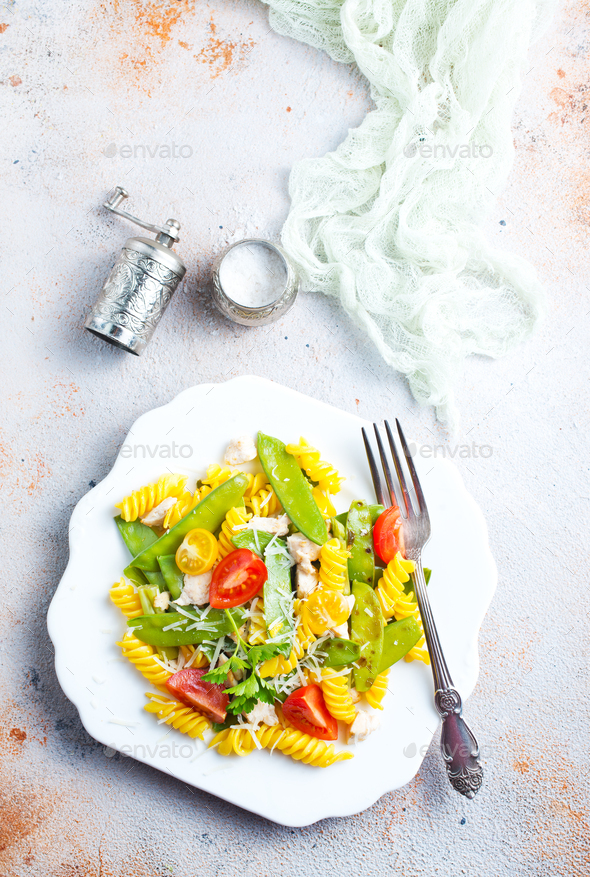 salad with pasta - Stock Photo - Images