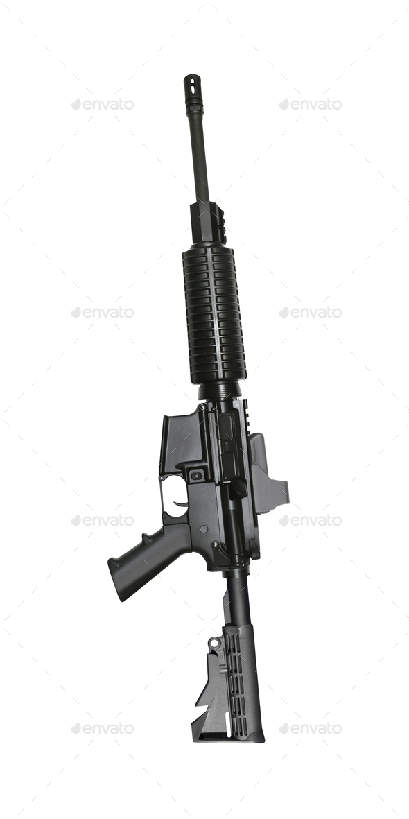 special forces rifle M4 isolated on a white background - Stock Photo - Images
