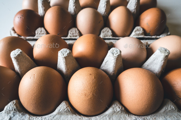 Crate of eggs - Stock Photo - Images