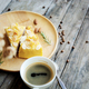 Coffee cup and cake on plate - PhotoDune Item for Sale