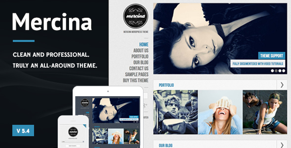 Mercina – MultiPurpose WordPress Theme Free Download