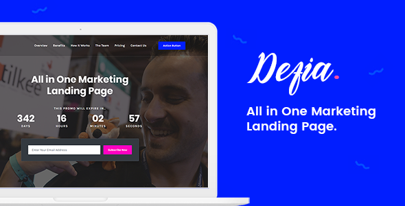 Lovely Defia - All In One Marketing Landing Page