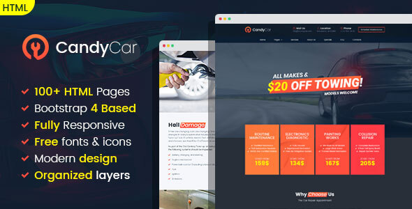 CandyCar - Auto service HTML template