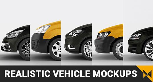Realistic Vehicles Mockups