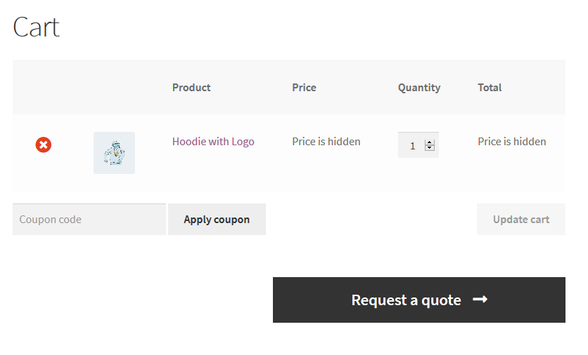 WooCommerce Catalog Mode Request A Quote Plugin - 1