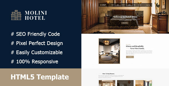 Molini- Hotel And Resort Responsive HTML5 Template