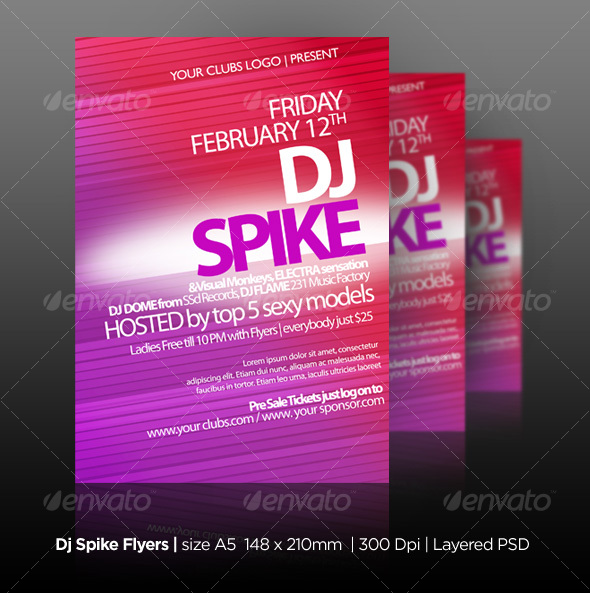 DJ Spike Flyers - Clubs & Parties Events