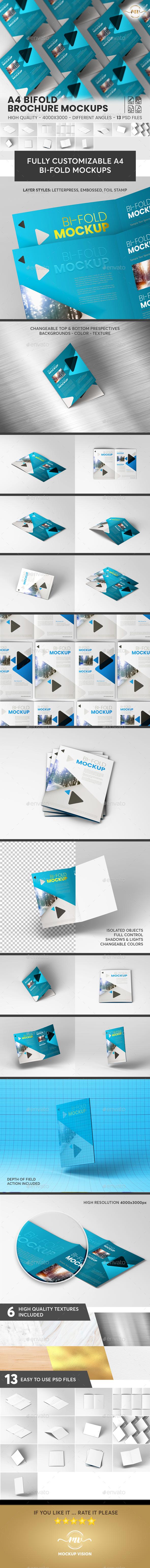 A4 Bifold, Brochure Mockup V2