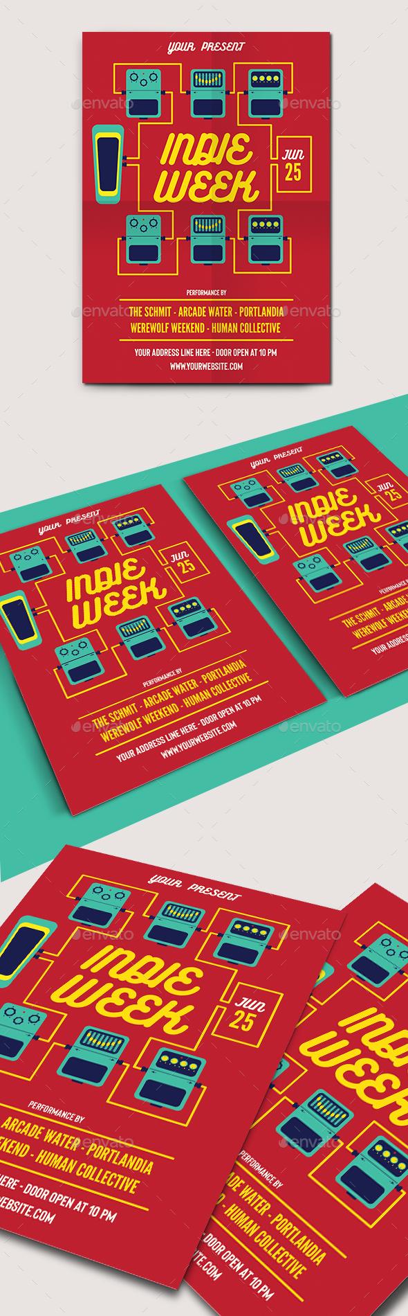 Indie Week Flyer Template