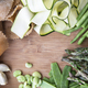 Vegetables and Raw Homemade Pasta Flat Lay - PhotoDune Item for Sale