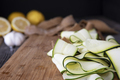 Zucchini Ribbons on Cutting Board - PhotoDune Item for Sale