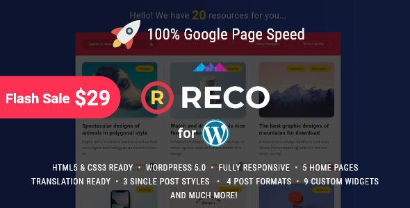 Reco - Minimal Theme for Freebies Free Download | Nulled