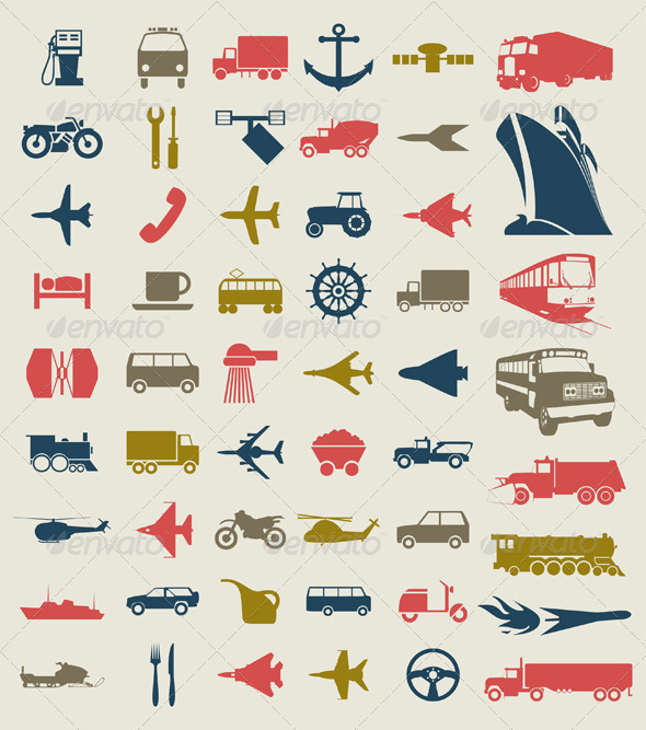 Transport Icons4 - Man-made Objects Objects