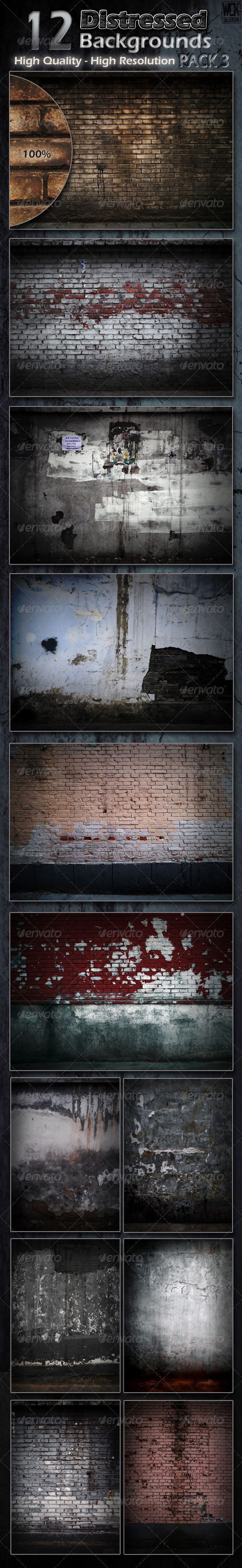 Distressed Background Textures Pack 3 - Backgrounds Graphics