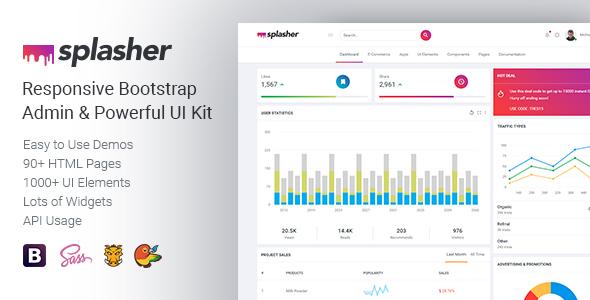 Splasher - Responsive Bootstrap Admin & Powerful UI Kit
