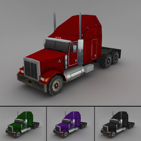Truck (LowPoly) - 3DOcean Item for Sale