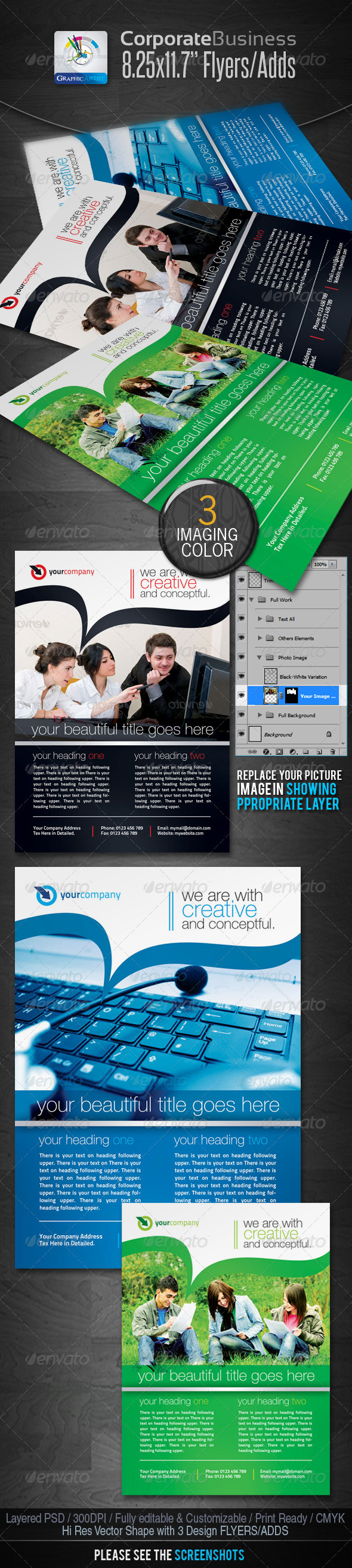 Corporate Business Flyers/Ads - Corporate Flyers