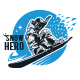 Snow Hero T-Shirt - GraphicRiver Item for Sale