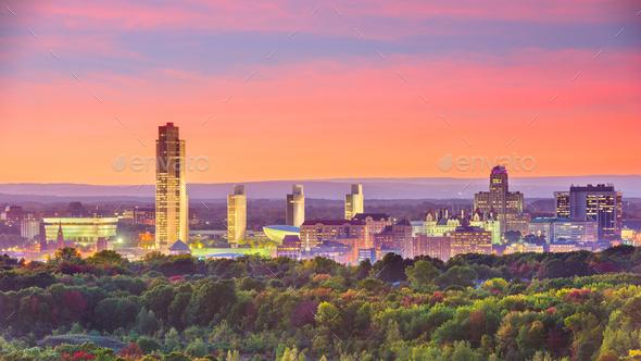 Albany, New York, USA skyline - Stock Photo - Images